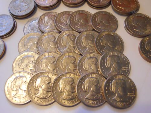 Lot of 5 Susan B Anthony Silver Dollars All 1979-D SBA $1 Coin Hoard!
