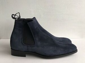 75a05845660bc2 Image is loading KINGSMAN-GEORGE-CLEVERLEY-Robert-Suede-Chelsea-Boots-Size-