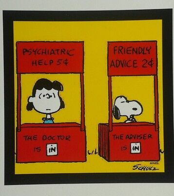 PEANUTS ♡ Snoopy /& Lucy ♡  MAGNET ♡  Friendly Advice 2cents