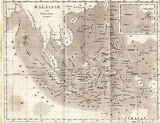Carte de la Malaisie, par Th. Duvotenay 1840 26x22