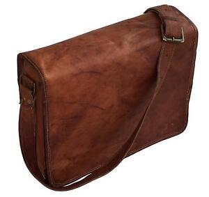 18-034-Men-039-s-Vintage-Brown-Satchel-Leather-Messenger-Bag-Shoulder-Laptop-Briefcase