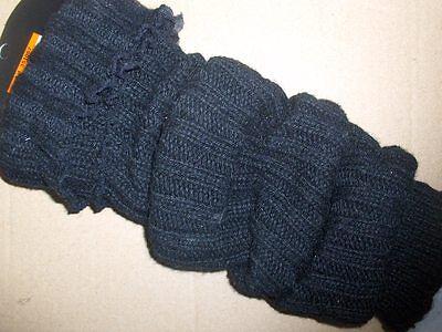 CAMANO warme Armwarmer Legwarmer Stulpen Rippe Damen schwarz ONESIZE Winter