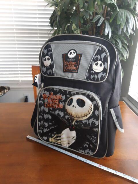"""Jack Skellington Blue Backpack School All Print Book Bag Backpack 16/"""""""