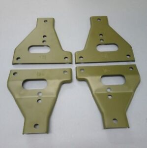 FORD GPW VEHICLE SET OF UPPER & LOWER BUMPER GUSSETS (F MARKED)