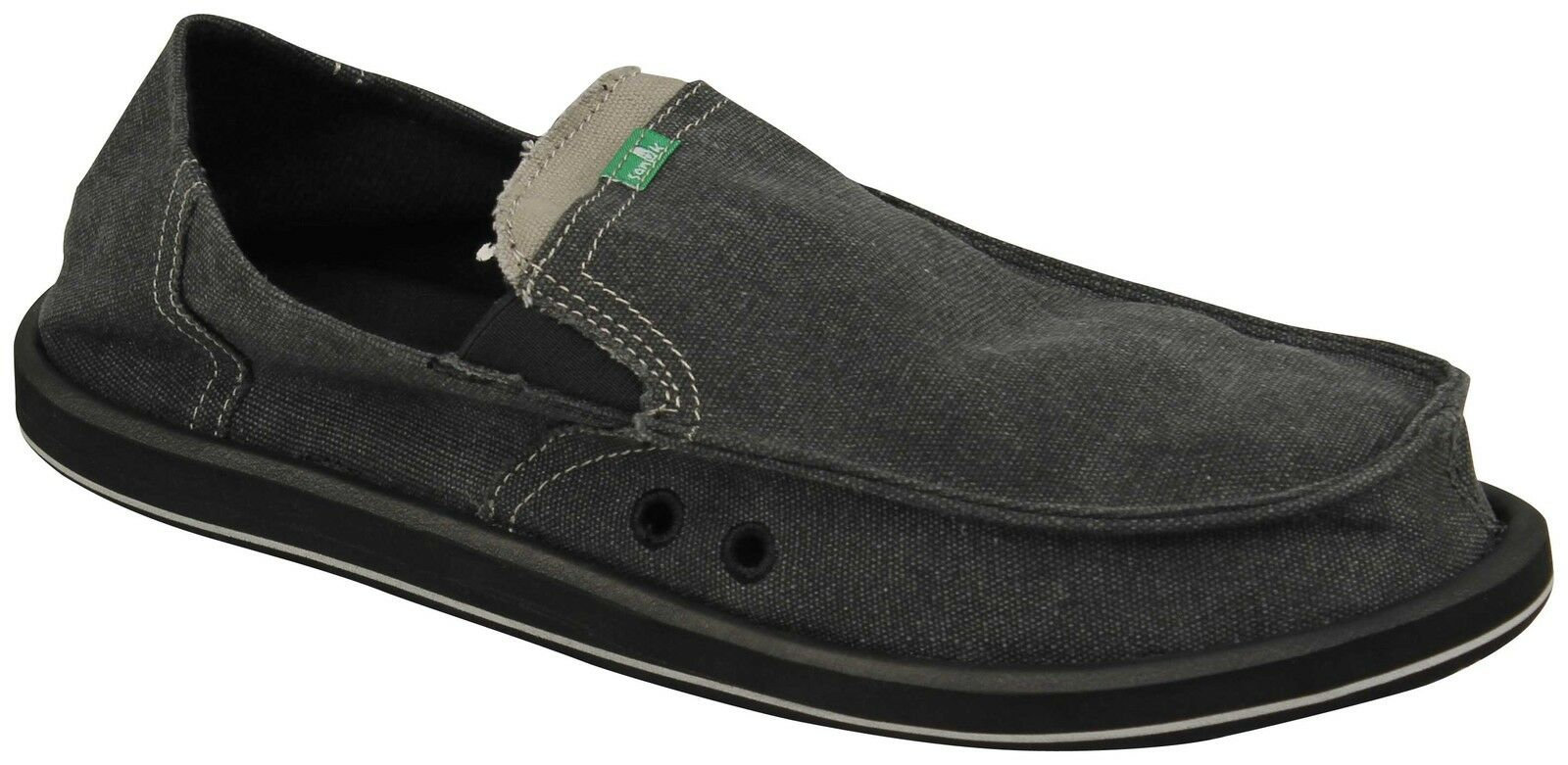 Sanuk Pick Pocket Sidewalk Surfer - Charcoal - New