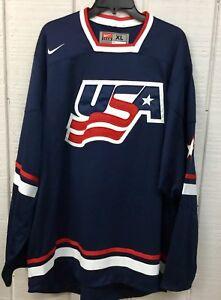 """90e2f63ab5c USA Hockey Jersey Nike llHF, SIZE """"M(1) L(2) XL(2)"""" Brand New - No ..."""