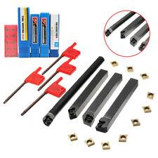 10pcs Lathe Carbide Insert Turning Tooling Bit Holder 4 Set 4pcs Wrench R5p0