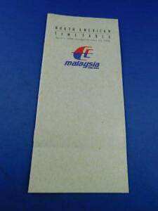 MALAYSIA-AIRLINES-NORTH-AMERICAN-TIMETABLE-1998-ADVERTISING-BROCHURE-TRAVEL