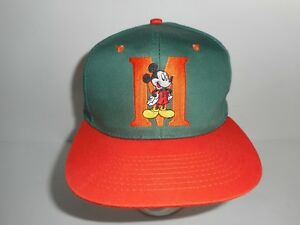 Image is loading Vintage-Disney-Mickey-Mouse-Snapback-Cap-Hat c72363a86bd1