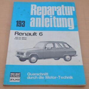Auto & Verkehr Renault 6 845 1108 Ccm Motor Bremsen Kupplung Elektrik Reparaturanleitung B193