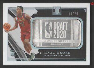 2020-21 Panini Impeccable Basketball Silver Draft Logo #5 Isaac Okoro 15/20