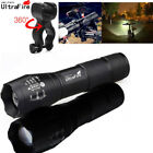 Ultrafire Flashlight 50000 LM XM-L T6 LED Zoomable Tactical 18650 +Torch Holder
