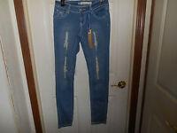 Junior Jeans Size 5 Distressed Instant Vintage Low Rise Straight Leg