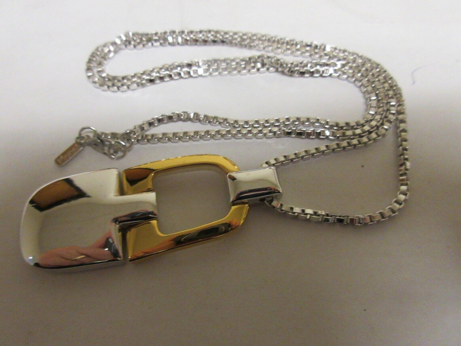 "Costume Jewelry , Monet Necklace , 27"" Chain , Pendant"