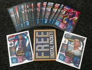 2019-20-Match-Attax-UEFA-Soccer-Cards-Lot-of-20-cards-inc-2-shiny-code