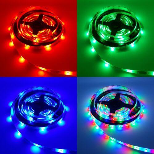5m 12V IP65 LED Stripe RGB Dimmbar Mehrfarbig SMD 2835 Licht Streifen Band