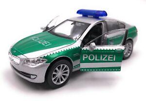 Voiture-miniature-police-BMW-535i-5er-vert-voiture-echelle-1-34-39-LGPL