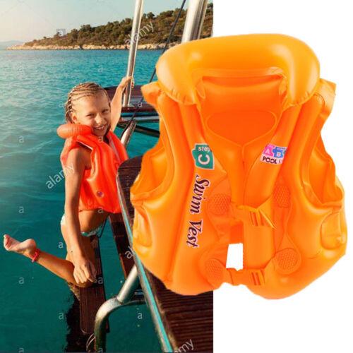 Kinder PVC Float Schwimmen Aufblasbare Schwimmweste Rettungsweste Schwimmbrett L