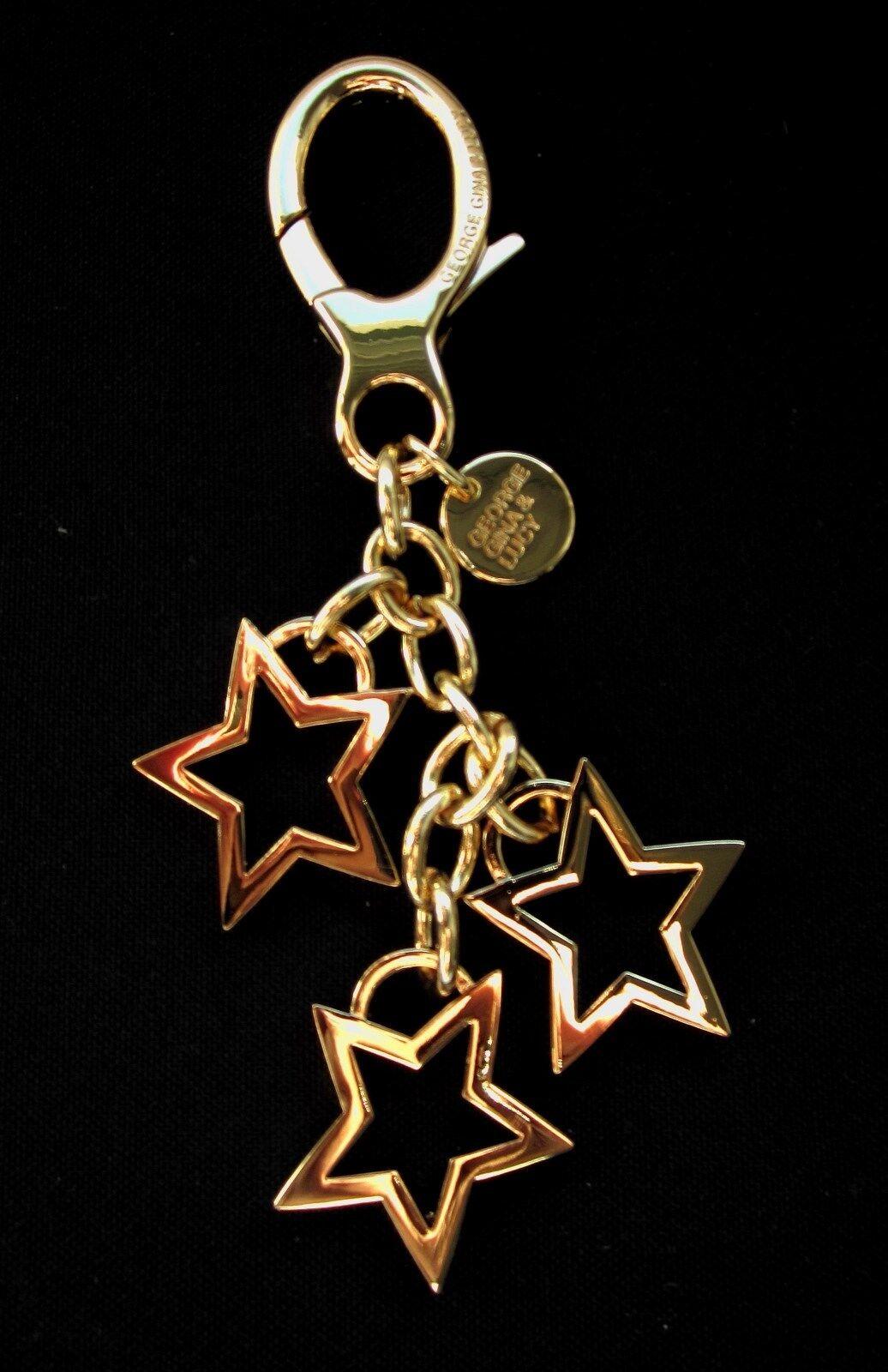 NEU George Gina Gina Gina Lucy Schlüsselring Sterne Keyrings KEY2stars Gold   Feinbearbeitung    Neu    Erste in seiner Klasse  6a42e7