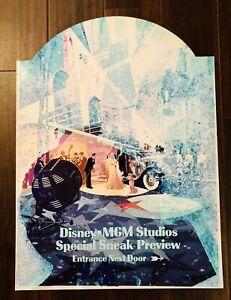 "1988 Walt Disney World MGM STUDIOS Sneak Peek Preview 27""X20"" Metal Park Sign"