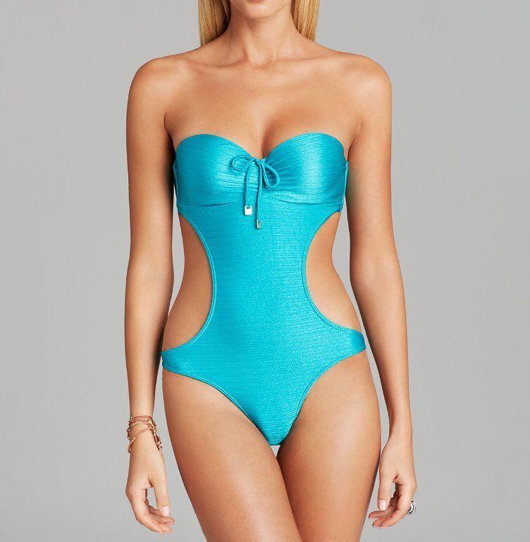 CIA. MARITIMA One Piece Sz S bluee Sheen Marrake Monokini Swimsuit SH2416-3