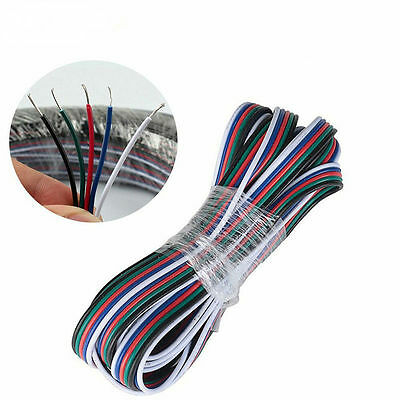 5 Core Extension Cable Wire Weldless 5Pin Plug LED 5050 RGBW RGBWW Strip Light