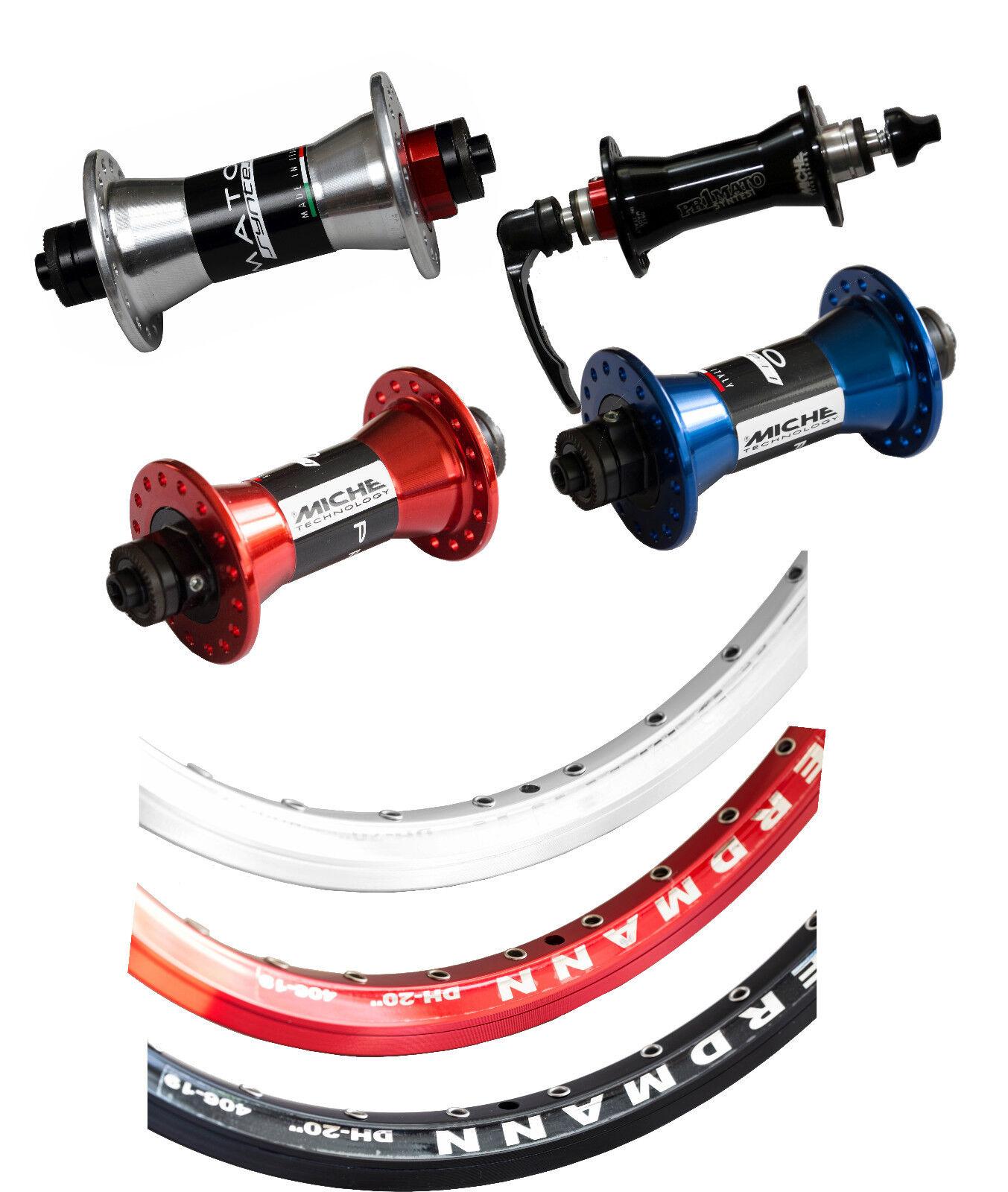 20 Inch Front Wheel Hub Miche Primato Syntesi Rim Erdmann Dh-20