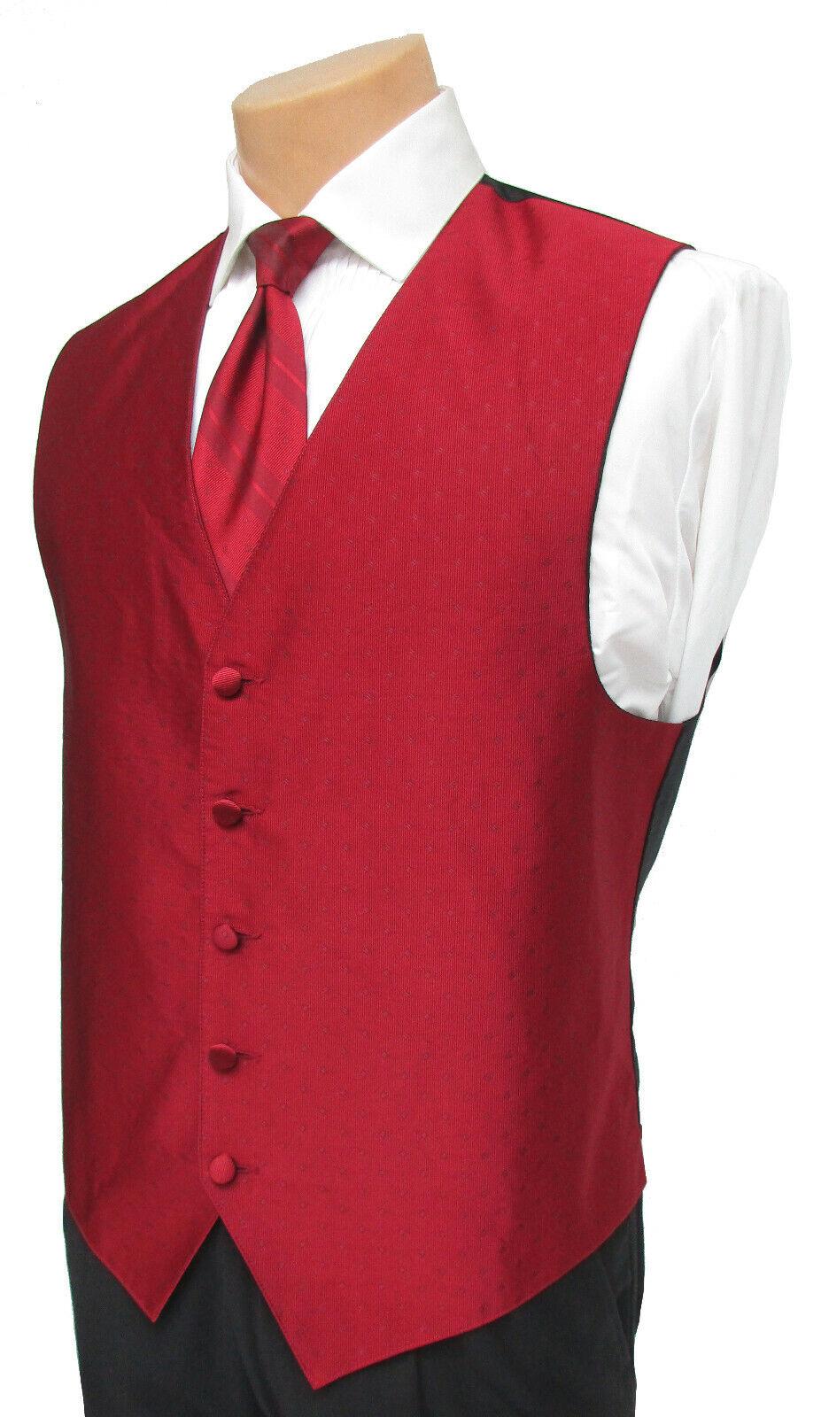 Men's XL Red Ralph Lauren Vineyards Fullback Tuxedo Vest & Tie Wedding Prom