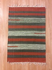 Striped Green Rust Color Handloomed