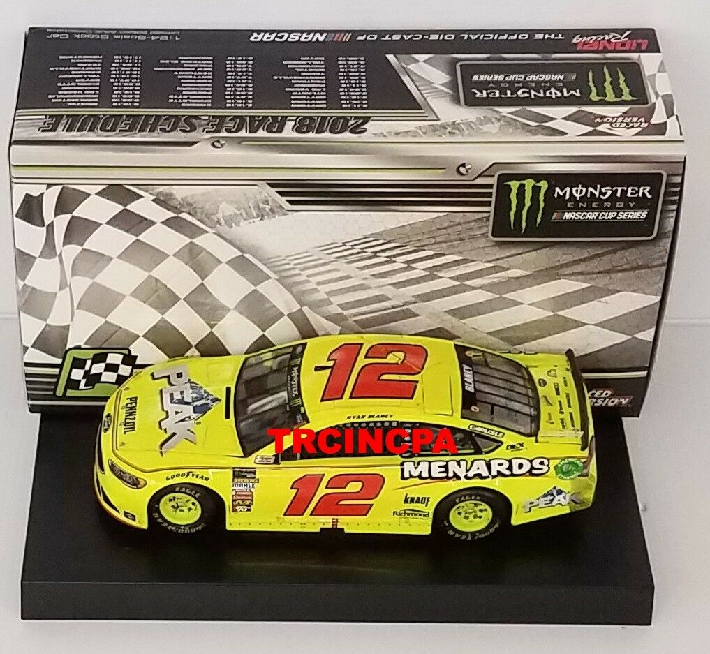 Ryan Blaney 2018 Lionel  12 Sieard's Daytona Duel  1 Winner Ford 1 24 FREE SHIP