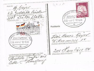 Hamburg Frankfurt Am Main Bahnpost 1983 Ein BrüLlender Handel Diverse Philatelie