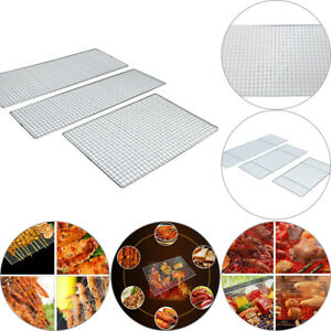 Stainless-Steel-Non-Stick-BBQ-Net-Mesh-Barbecue-Racks-Carbon-Baking-Net-Grill-SH
