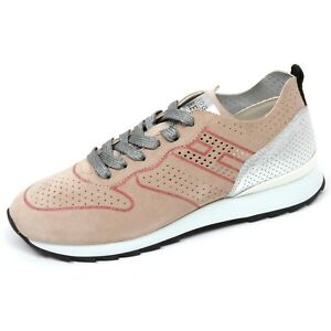C8416-sneaker-donna-HOGAN-REBEL-R261-scarpa-beige-argento-shoe-woman