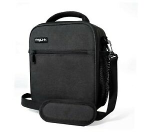 Long Time Insulation Leak-Proof Liner Tote Black Anglink Insulated Lunch Bag