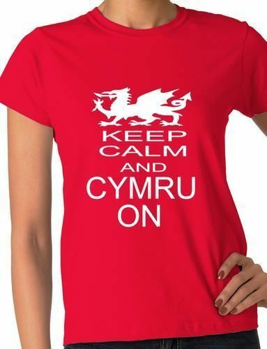 Keep Calm And Cymru On Welsh Rugby Wales  Ladies  T-Shirt Size S-XXL