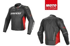 Dainese Racing D1 Estivo (Perforated) Leather Motorcycle Jacket sz 56 Euro