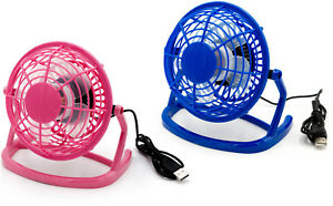 USB Ventilateur Mini Ventilateur Bureau Fan Bleu Rose Avec Interrupteur Ordinateur Portable  </span>