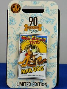 Disney-Parks-PLUTO-90TH-Anniversary-MAIL-DOG-Poster-LE-3000-Trading-Pin