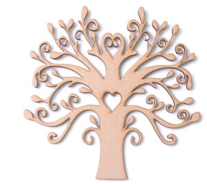 Boda Familia Libro De Visitas 4mm Forma de árbol de MDF de madera