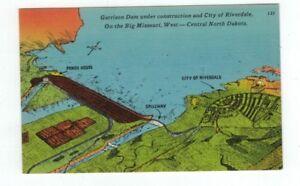 Riverdale North Dakota /& Garrison Dam Aerial Vintage Postcard unused