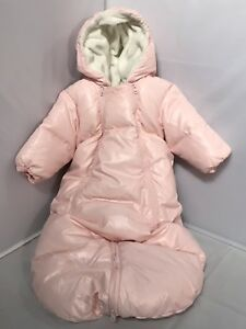 Benetton-Baby-Bunting-One-Piece-Hooded-Winter-Snowsuit-Envelope-Size-6-9-Months