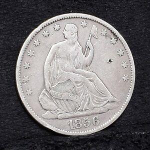 1856-O-Liberty-Seated-Half-Dollar-VF-Details-29617
