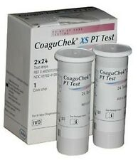 NEW ROCHE COAGUCHEK XS PT/INR TEST STRIPS 48/BX