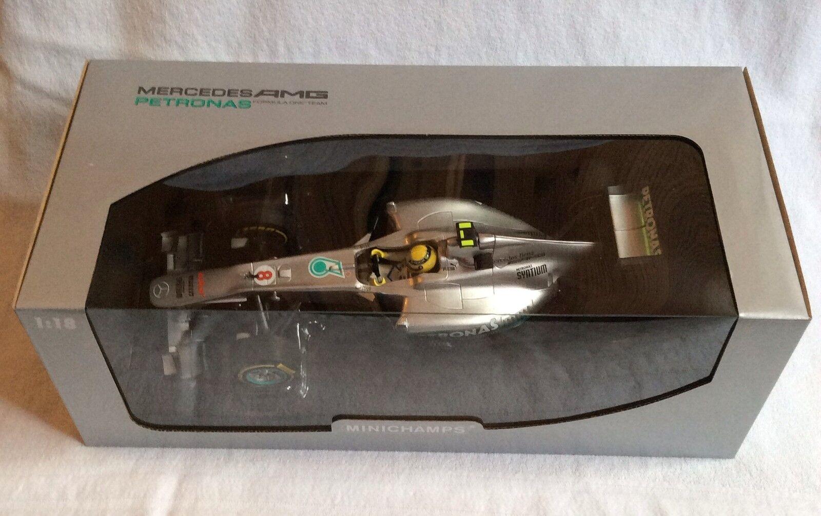 MINICHAMPS échelle 1.18 Mercedes AMG F1 Team Nico Rosberg car 2012. | Approvisionnement Suffisant Et Une Livraison Rapide