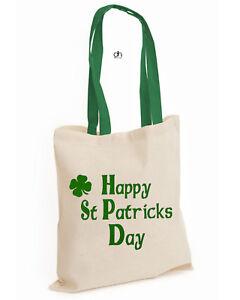 1fd877a81d P,CONBAG Shamrock Cotton Tote FUNNY HAPPY Leprechaun St Patrick's DAY Irish  Damentaschen