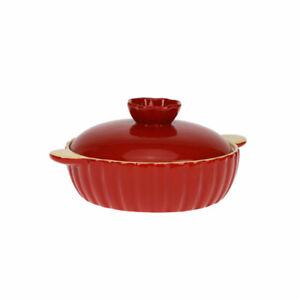 Cassolette-Cocotte-Ronde-en-Porcelaine-avec-Couvercle-2L-Cocotte-a-Rotir-Rouge
