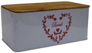 Violet-Clair-pain-Bin-Bread-Crock-avec-bambou-couvercle-Planche-a-decouper-motif-c-ur