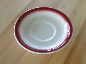 "Buffalo China 6-1/8"" Saucer, Spray Mist Maroon - F1500109502 - (Each)"