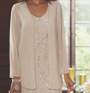 Champagne-Mother-of-the-Bride-Dresses-Formal-with-Jacket-Bolero-Sequins-Beaded