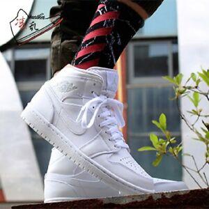 Details about Nike Air Jordan 1 Mid 554724-109 White/Pure Platinum Men's  Basketball Shoes